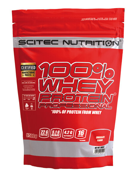100% WHEY PROTEIN PROFESSIONAL Scitec Nutrition 500 g Vanille